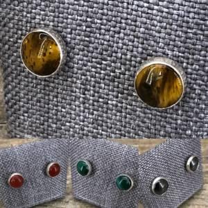 Boucles d'Oreilles serti clos 9mm